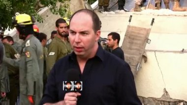 Or Heller, a reporter for security affairs for Israeli Channel 10 — Stock Video
