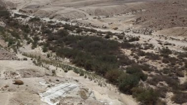 The wilderness of Zin Desert in the Negev district in southern Israel — Stock Video