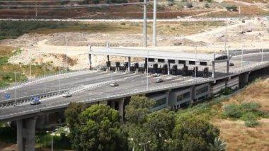 Przejazd stoisko posterunek przecięcia haifa upływ czasu izrael — Wideo stockowe