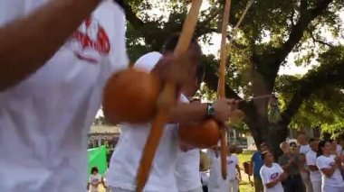 Capoeira musical instruments — Stock Video