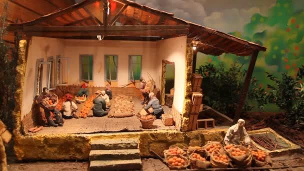 Interior de un museo — Vídeo de stock