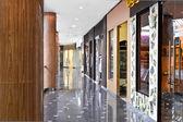 Empty hallway of modern mall — Stock Photo