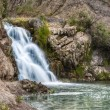 The waterfall near Belovo village in Novosibirsk region — Stock Photo