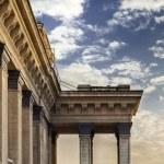 Novosibirsk opera theater architectural detail of columns — Stock Photo #29631319