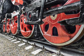 The details of soviet locomotive — Stock Photo