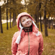 Autumn portrait of yound woman — Stock Photo