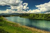 "The landscape of ""Biya"" river in Turochak village — Stock Photo"