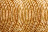 Stack of potato chips — Stock Photo