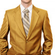 Master of business dressed in gold suit — Stock Photo #45935405