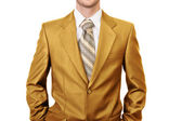 Master of business dressed in gold suit — Stock Photo