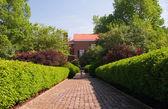Private garden path — Stock Photo
