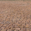 Stock Photo: Granite brick road natural stone background close up