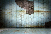 Scratch stone old dirty tile wall background — Stock Photo