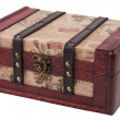 Royalty-Free Stock Photo: Vintage wooden treasure chest isolated over white background