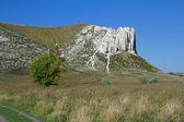 Belokuzminovka のビュー チョーク ウクライナのロッキー山脈 — ストック写真