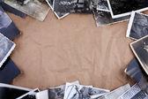 帧的老照片作皱包装牛皮纸 backgrou — 图库照片