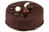 Chocolate cake isolated on white background — Stock Photo