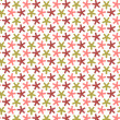 Repeating stars with round angles, vector seamless pattern. — Stock Photo