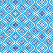 Circles, dots and squares vector seamless pattern, modern stylish texture, repeating geometric tiles. — Stock Photo
