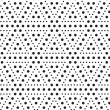 Stock Photo: Triangles of dots, black and white abstract geometric vector sea