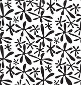 Ink spots, black and white abstract geometric vector seamless pa — Stock Photo