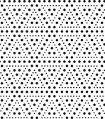 Triangles of dots, black and white abstract geometric vector sea — Stock Photo