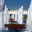 Fountain in a Victory park, Moscow, Russia — Stock Photo
