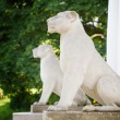 White Pavilion with Pillars and Lions in Kolomenskoye, Moscow ci — Stock Photo