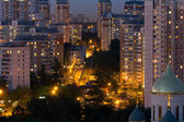 Moscow Solntsevo District at night — Stock Photo