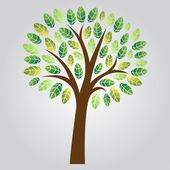 Stylized Vector Tree — Stock Photo