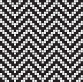 Herringbone Weave, Black and White Abstract Geometric Vector Sea — Stock Photo