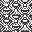 Black and White Abstract Geometric Vector Seamless Pattern. — Stock Photo