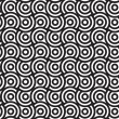 Spirals and Circles, Black and White Abstract Geometric Vector S — Stock Photo