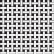 Plane Weave, Black and White Abstract Geometric Vector Seamless — Stock Photo #30555405