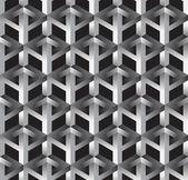 3 d 不可能図形抽象的なベクトルのシームレスなパターン. — ストック写真
