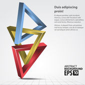 Triangles 3D Shape, Abstract Vector Illustration. — Stock Photo
