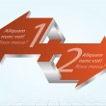 Постер, плакат: Impossible Arrows Inforgraphic Element Icon Sign Abstract Vecto