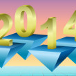 New Year 2014 Background, Vector Illustration. — Foto Stock