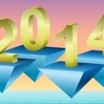 nieuwe jaar 2014 achtergrond, vectorillustratie — Stockfoto