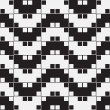 Herringbone Weave, Black and White Optical Illusion, Vector Seam — Stock Photo