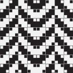 Herringbone Weave, Black and White Optical Illusion, Vector Seam — Stock Photo #33000197