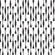 Black and White Abstract Geometric Vector Seamless Pattern Backg — Stock Photo