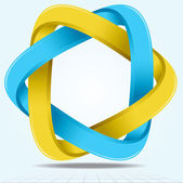 Infinite Ribbon Star, Two Looped Triangle Shape Icon, Vector Ill — Stock Photo