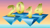 New Year 2014 Background, Vector Illustration. — Stock Photo