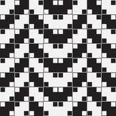 Herringbone Weave, Black and White Optical Illusion, Vector Seam — Stock Photo