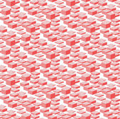 3D Pink Boxes City Abstract Vector Seamless Pattern Background. — Stock Photo