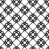 Diamanter, svarta och vita abstrakta geometriska vektorn sömlös pat — Stockfoto
