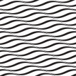 Horizontal Waves, Black and White Optical Illusion, Vector Seaml — Stock Photo