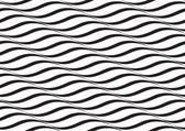 Horizontal Waves, Black and White Optical Illusion, Vector Seaml — Stock Photo