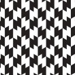 Stock Vector: Black and White Zig Zag Vector Seamless Pattern Background. Line